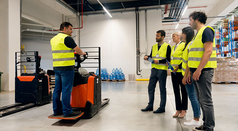 training staff to use forklift
